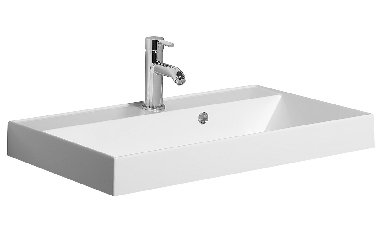 Stone Vanity Basin : Bauhaus Design 700mm No Taphole Cast Mineral Marble Vanity Basin