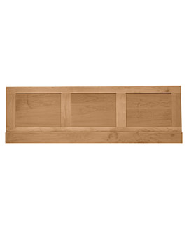Imperial Shaker-Thurlestone Bath Front Panel 1700mm Natural Oak
