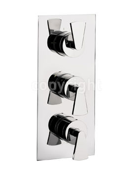 Crosswater Essence Thermostatic Valve With 3 Way Diverter Portrait