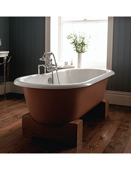 Imperial Bentley Madera Cast Iron 1700mm Bath With Oak Cradle