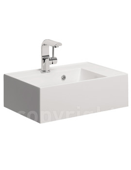 Bauhaus Elite 500mm Square Vanity Basin With Overflow