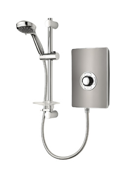Triton Aspirante Gun Metal Electric Shower 8.5 KW