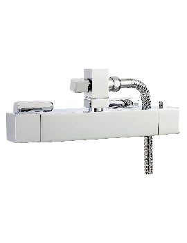 Phoenix Square Exposed Thermostatic Shower Bar Valve