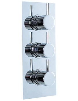 Phoenix Concealed Triple Lever Thermostatic Shower Valve- Portrait