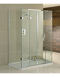 Aquadart Inline 3 Sided 1200 x 900mm Hinged Door Shower Enclosure