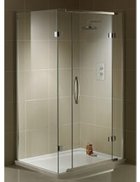 Aquadart inline shower enclosures inline 2 sided 3 sided for 1200 shower door hinged