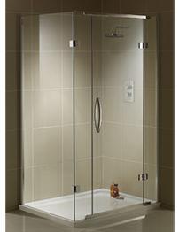 Aquadart Inline 2 Sided 1200 x 900mm Hinged Door Shower Enclosure