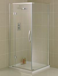 Aquadart Inline 800 x 800mm Hinged Shower Door With Side Panel