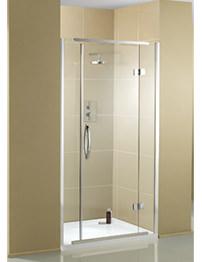 Aquadart Inline Recess 1200mm Hinged Shower Door