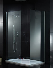 Aquadart Wetroom 1000mm Walk-In Shower Glass Panel