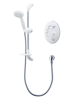 Triton T300si Remote Electric Shower 8.5 KW White-Chrome