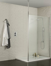 Aquadart Wetroom 800mm Walk-In Shower Enclosure