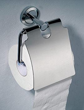 Phoenix Round Toilet Paper Holder Brass