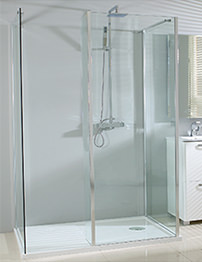 Phoenix Vision Single Wall Shower Enclosure 1600 x 800mm Pack 5