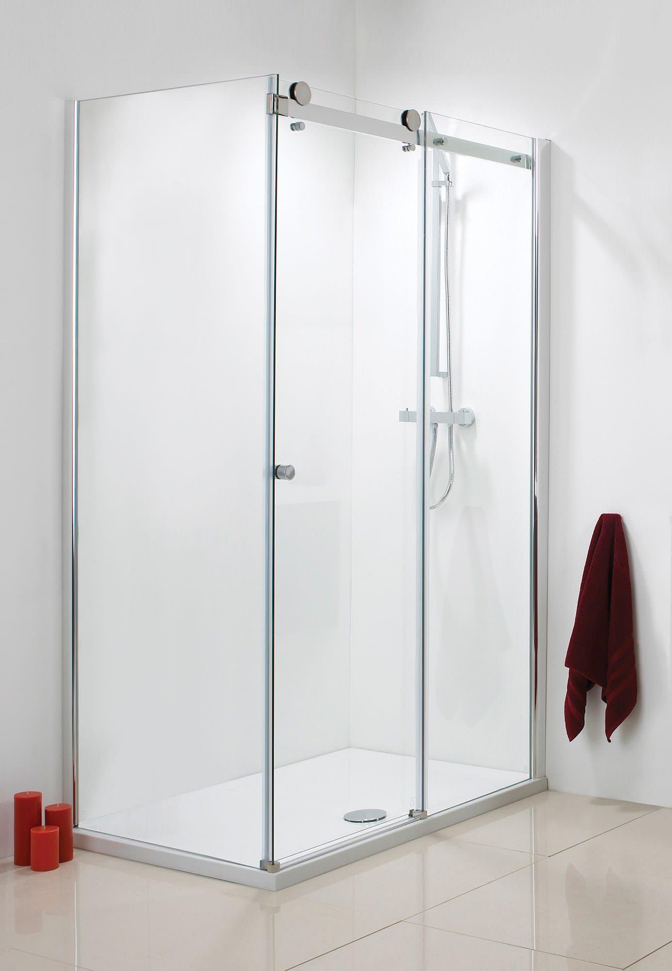 Phoenix Frameless Single Slider Shower Door 1400mm