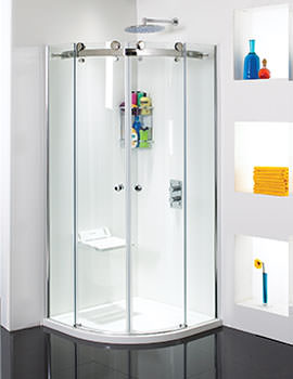 Phoenix Frameless Quadrant Twin Sliding Shower Door 900 x 900mm