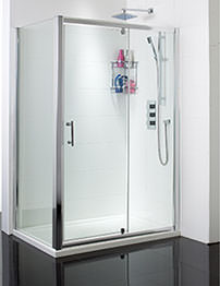 Phoenix Bow Corner Shower Enclosure With Pivot Door