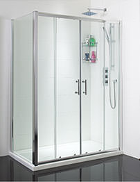 Phoenix Twin Sliding Shower Door 1600mm