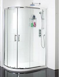Phoenix Offset Twin Door Quadrant Shower Enclosure 900 x 760mm