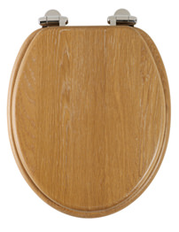 Roper Rhodes Traditional Soft-Closing Limed Oak Toilet Seat