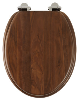 Roper Rhodes Traditional Soft-Closing Walnut Toilet Seat