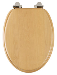 Roper Rhodes Traditional Soft-Closing Beech Toilet Seat