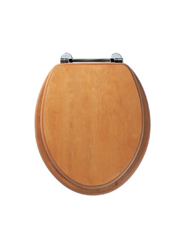 Roper Rhodes Axis Antique Pine Toilet Seat With Chrome Bar Hinges