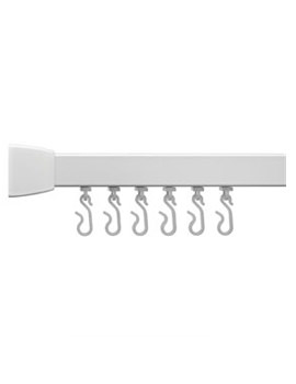 Croydex Professional Profile 800 Standard Angled 1000mm White Curtain Rail