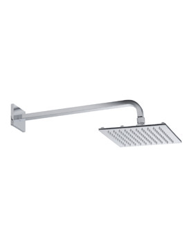 Roper Rhodes 200mm Square Shower Head With Square Fixed Arm