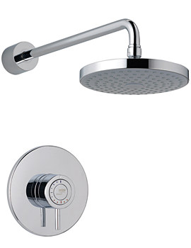 Mira Element SLT BIR Built In Rigid Thermostatic Mixer Shower Chrome