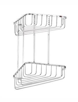 Croydex Wire Large Two Tier Corner Basket
