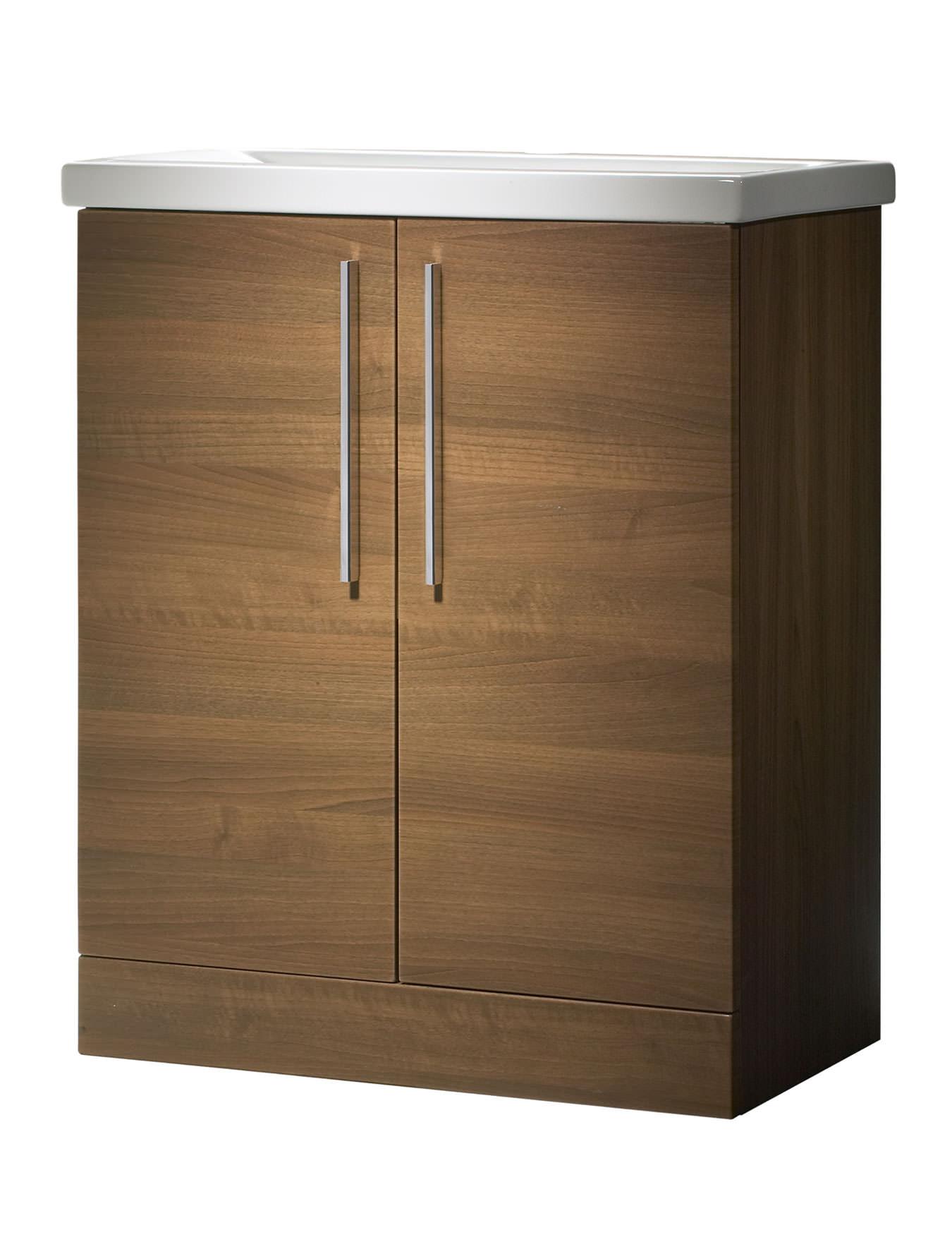 Roper Rhodes Envy 700mm Walnut Floorstanding Vanity Unit