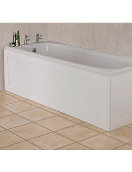 Croydex Unfold N Fit Gloss White Front Bath Panel