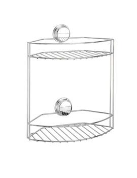 Croydex Twist N Lock Plus 2 Tier Basket