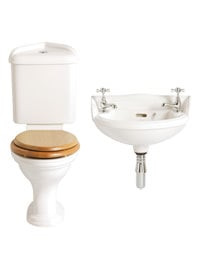 Heritage Dorchester Traditional Space Saver Cloakroom Suite - 4