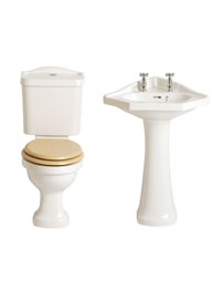 Heritage Rhyland Cloakroom Suite With Corner Basin