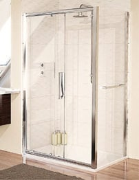 Aqualux Aqua 8 Glide Sliding Shower Door 1200mm