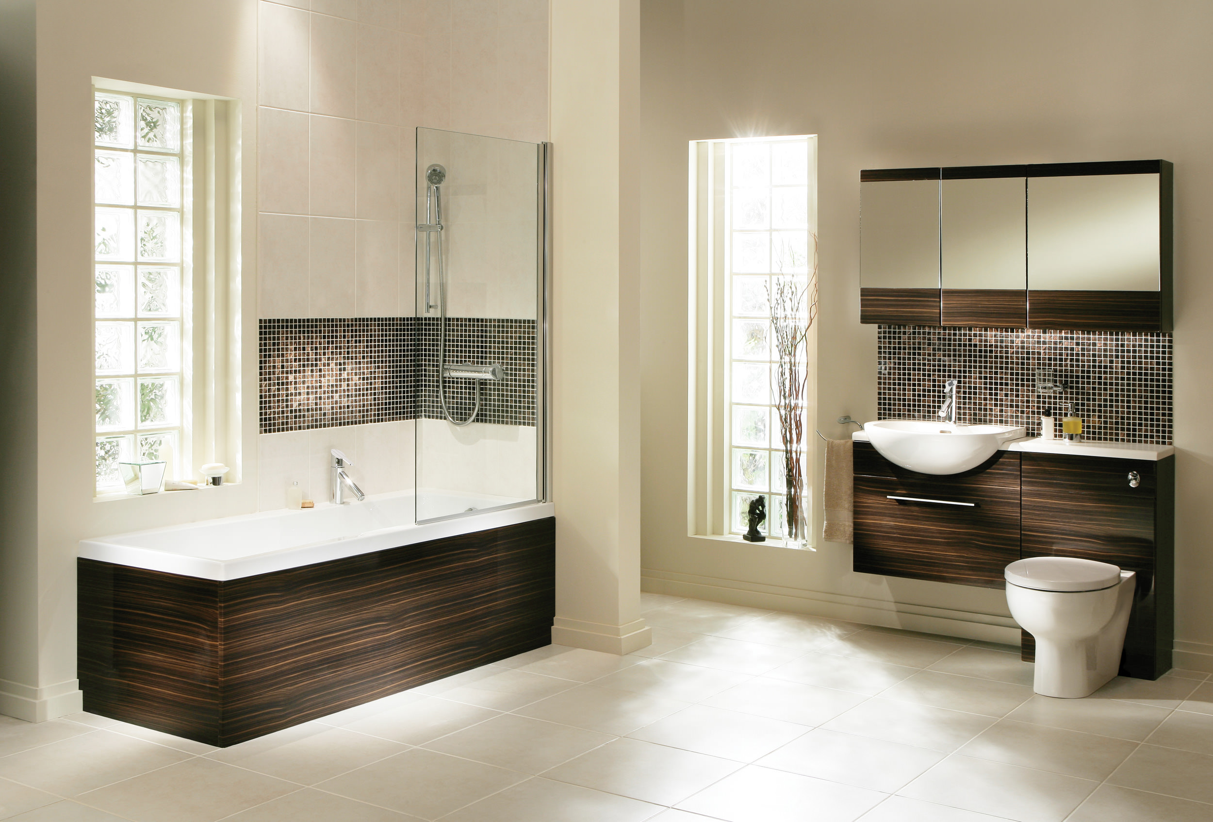 Modern Bathroom Suites Wallpaper Hd