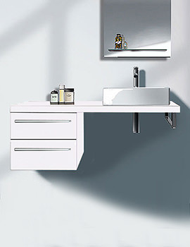 Duravit Happy D2 White Gloss 300 x 478mm Low Cabinet