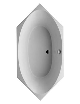 Duravit 2x3 Hexagonal 2000x1000mm Bathtub With Support Frame