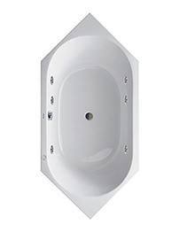 Duravit D-Code 1900 x 900mm Corner Built-In Bath With Jet Project