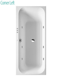 Duravit Happy D2 1600x700mm Built In Bath With Jet System