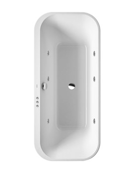 Duravit Happy D2 1800 x 800mm Freestanding Bath With Jet System