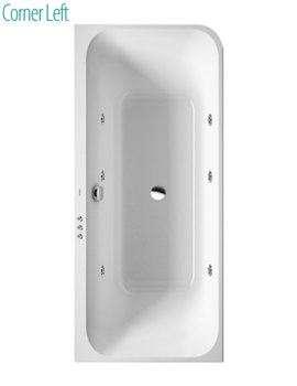 Duravit Happy D2 1800x800mm Bath With Integrated Panel And Jet System