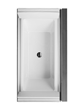 Duravit Sundeck 1855x855mm Bath With Panel And Long Pillar