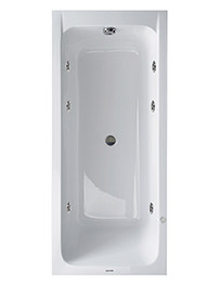 Duravit D-Code 1700 x 750mm Rectangular Bath With Jet Project