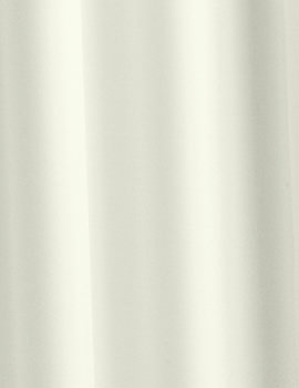Croydex Patterned Plain Ivory Textile Shower Curtain