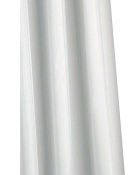 Croydex Professional High Performance Textile White Shower Curtain
