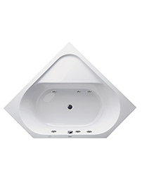 Duravit D-Code 1400 x 1400mm Corner Built-In Bath With Jet Project