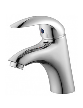 Essential Sunshine Chrome Plated Basin Mixer Tap With Click Clack Waste